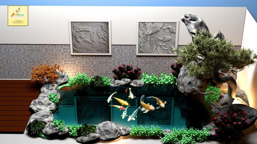 Bể cá được đặt trong nhà cũng rất tố cho người mệnh thủy