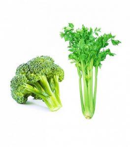 Súp lơ, cần tây là những loại thực phẩm có tác dụng làm trắng răng hiệu quả