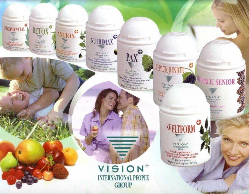Thực phẩm chức năng Vision có rất nhiều dòng sản phẩm khác nhau