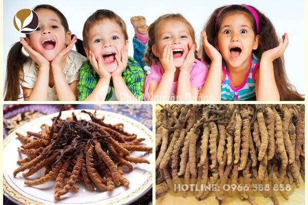 Trẻ em có nên dùng đông trùng hạ thảo hay không?