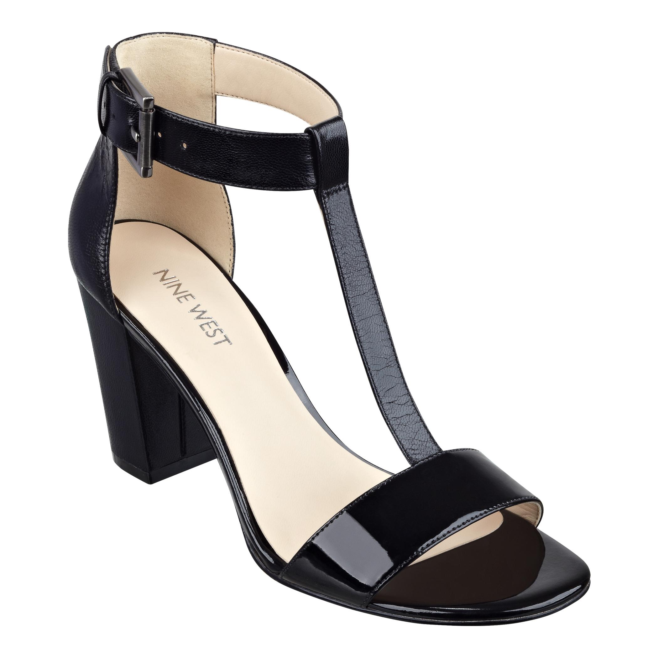 Giày sandal T-strap cao gót