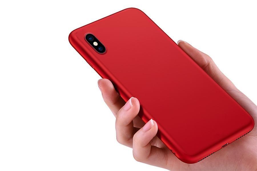 Ốp lưng Silicon màu đỏ nhung