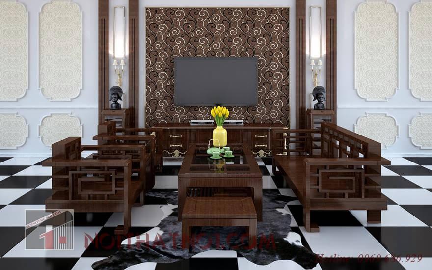 Bộ bàn ghế gỗ nổi bật tại Hải Phòng