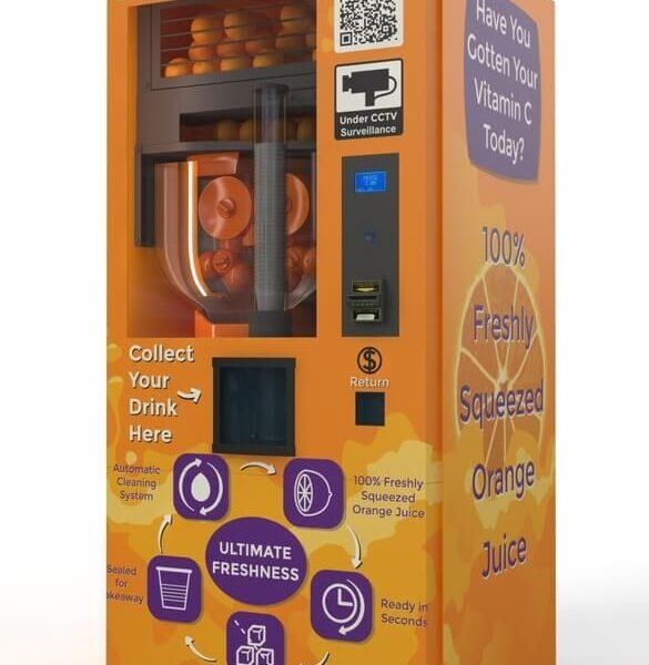 Máy bán nước cam tự động đang rất được ưa chuộng