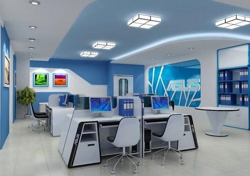 Màu sắc quan trọng trong thiết kế nội thất văn phòng.